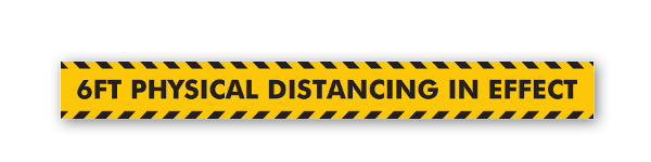 Physical Distancing sticker