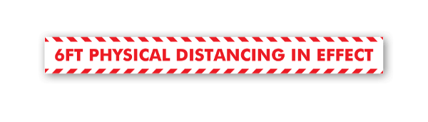 Red Physical Distancing sticker