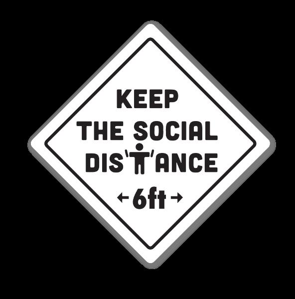 Distance 6ft sticker