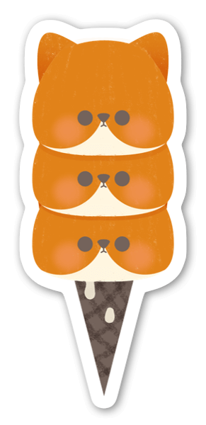 Ice-cream sticker