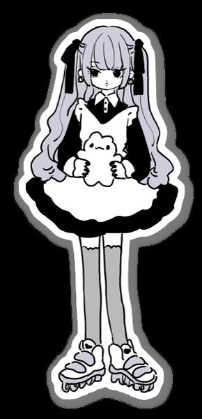 Doodle Girl sticker