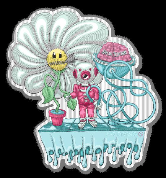 daisy diver sticker