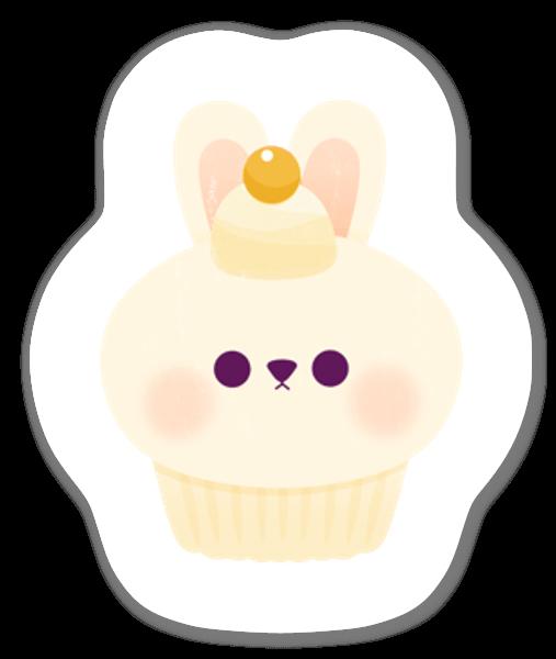 Söpö cupcake tarra