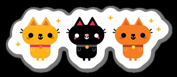 Cute Cats sticker