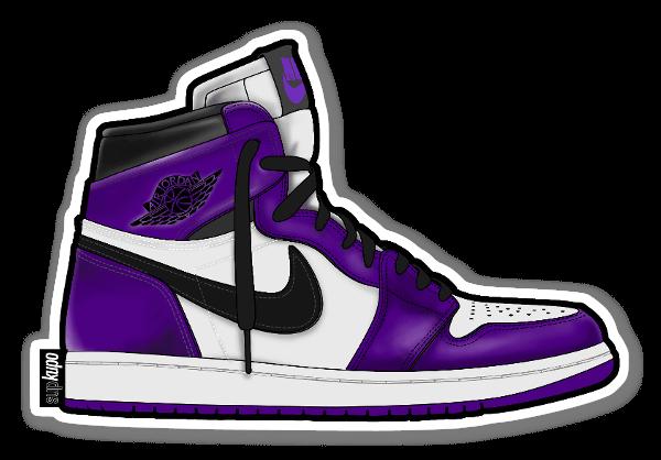 Court Purple sticker