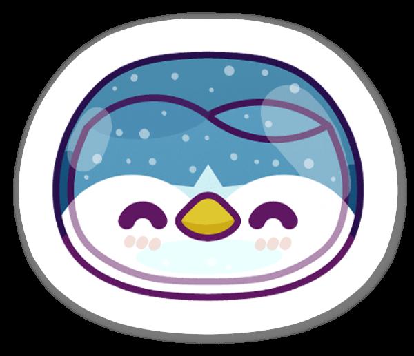 Pingwinek naklejka