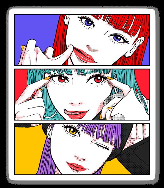 Kolme tyttöä tarra