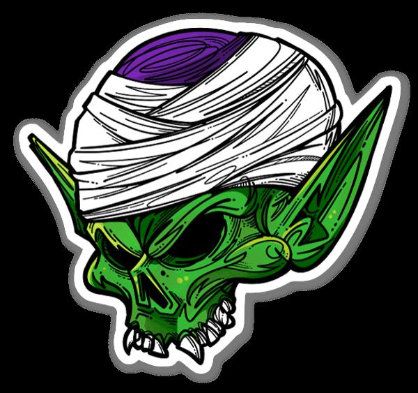 Skull Piccolo DBZ tarra