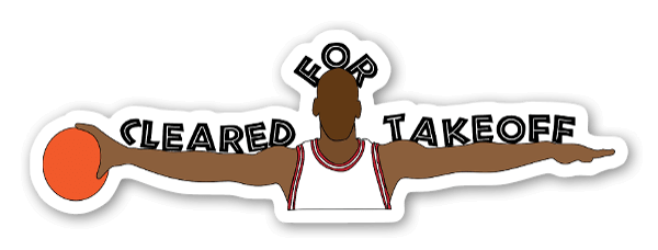 Cleared For Takeoff Sticker