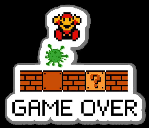 Covid Game Over Sticker
