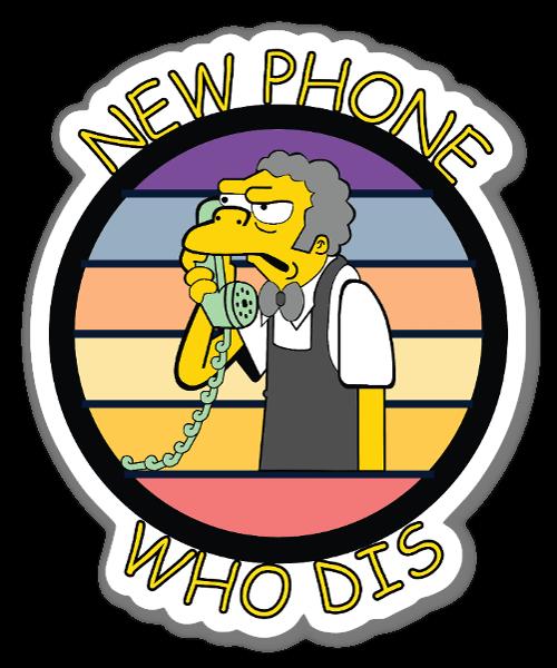 New Phone Who Dis Sticker ステッカー