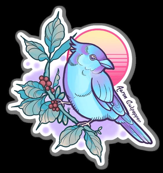 Bird Wave sticker