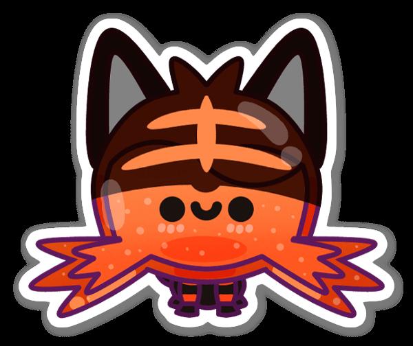 キュートなヒゲ猫 ステッカー