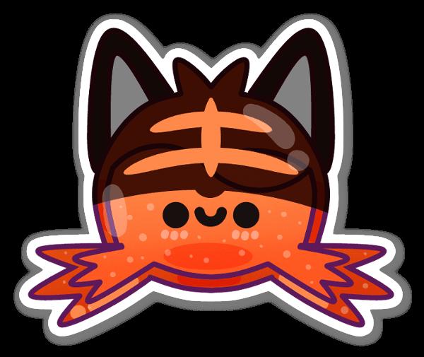 Hymyilevä kissa tarra