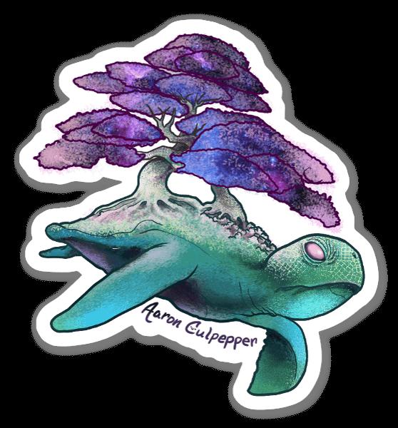 Turtle Space sticker