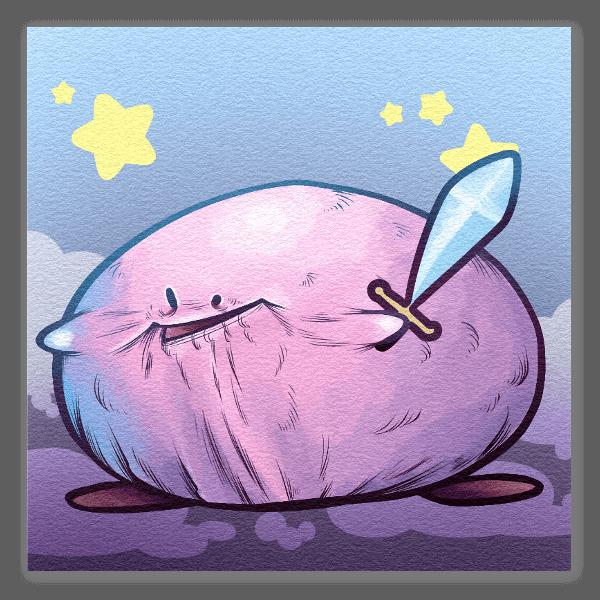 Kirby i gwiazdy naklejka