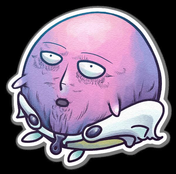 One Punch Kirby sticker