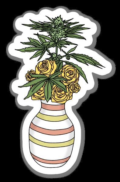 Vase and Weeds sticker