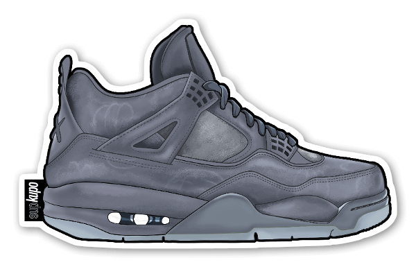 Jordan 4 Kaws Grey sticker