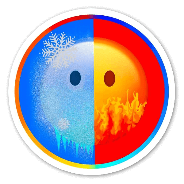 Hot and Cold sticker