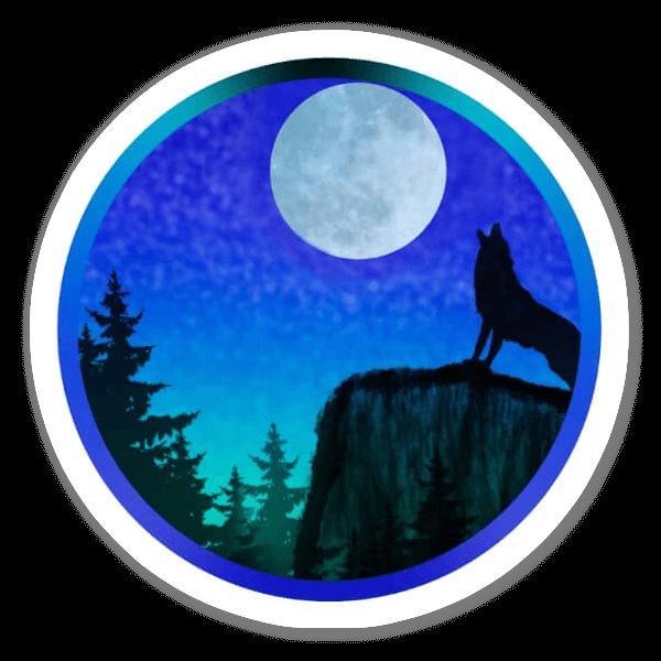 Ululando alla luna sticker
