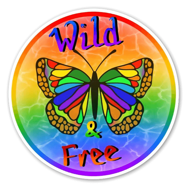 Wild and Free Butterfly sticker