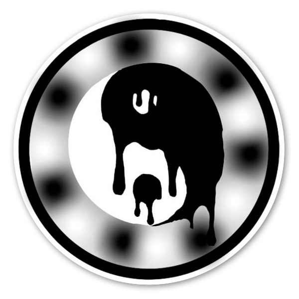 YinYang melted sticker