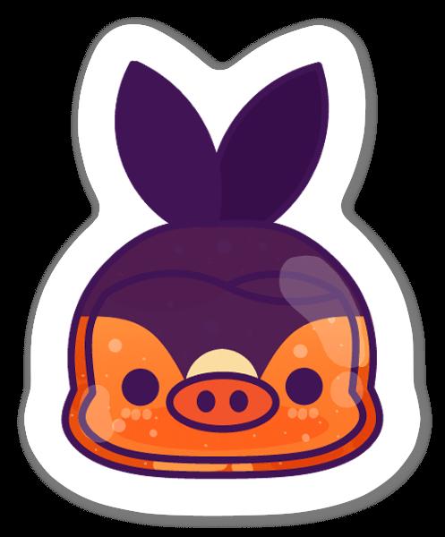 Cerdo pegatina