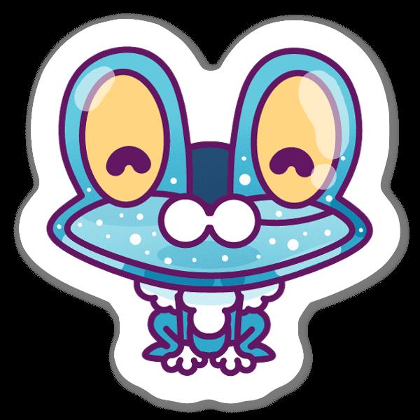 Cute Blue Frog sticker