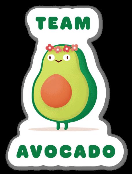 Team Avocado sticker