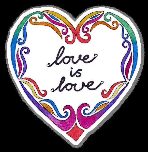Rainbow Love sticker