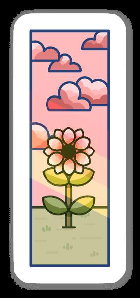 Flor sticker