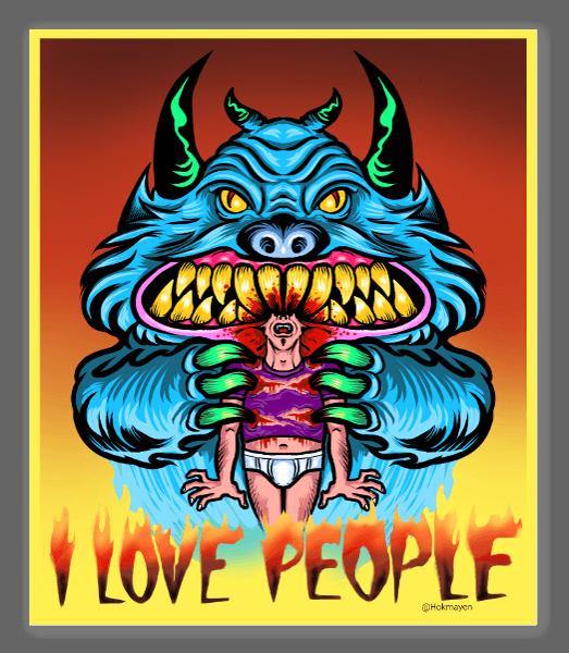 I love people sticker
