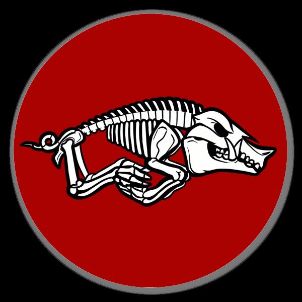Razorback Skeleton  sticker