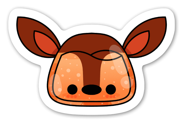 Deer sticker