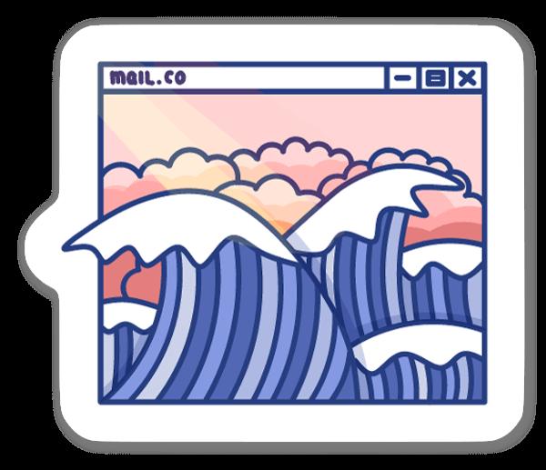 Ondas sticker