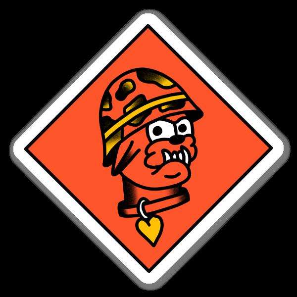 Devil dawg sticker