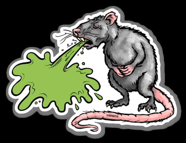 Rat Barf sticker