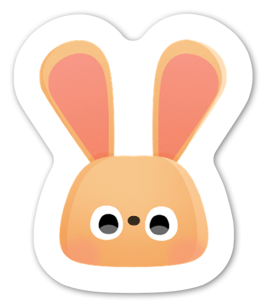 Conejo pegatina