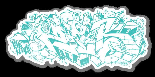 OZER graff 3 sticker
