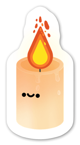 Cartoon Candle sticker