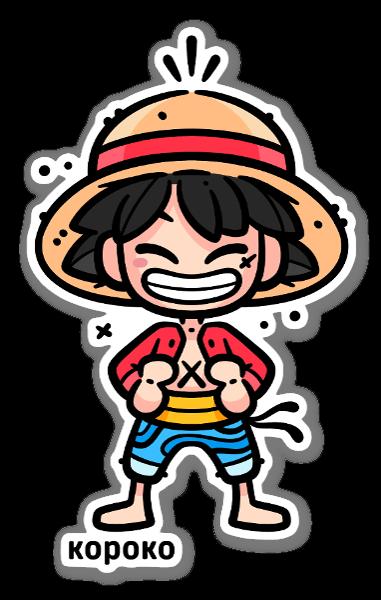 Luffy sticker