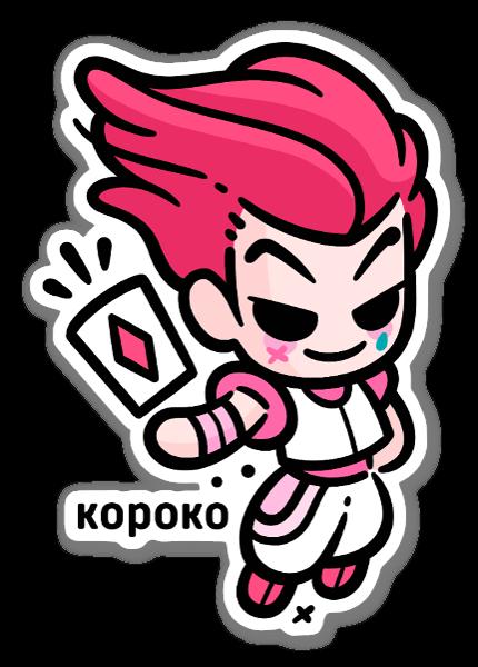 Hisoka sticker
