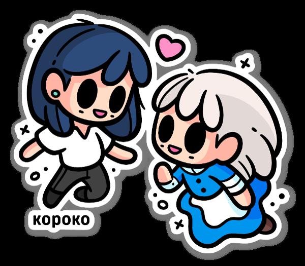 Hauru & Sophie sticker