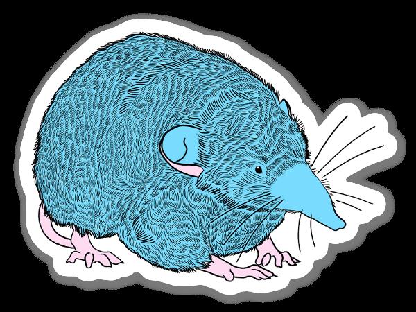 blue shrew sticker