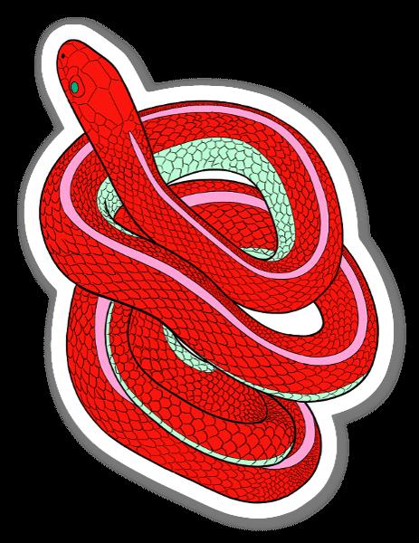 psychedelic snake sticker