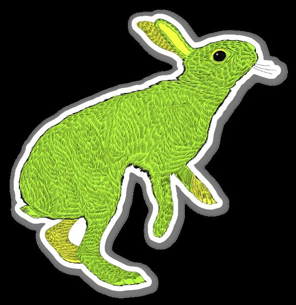 Halcyon Green Hare sticker