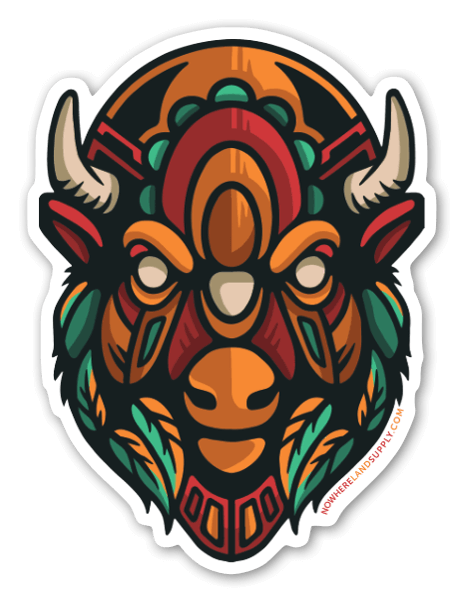 Bison Headstrong sticker