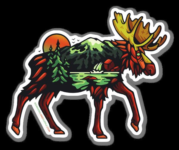 Moose Landscape sticker
