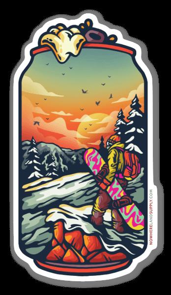 Snowboard Beer sticker
